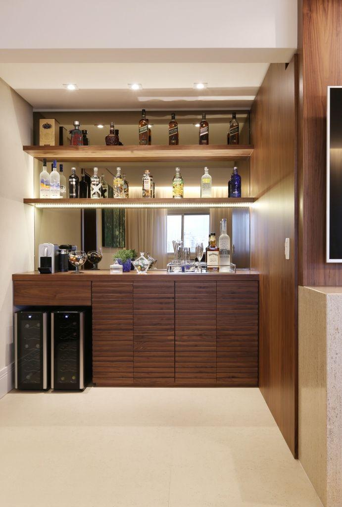 Adega Home Bar Com Parede Espelhada Spestudio1 168233