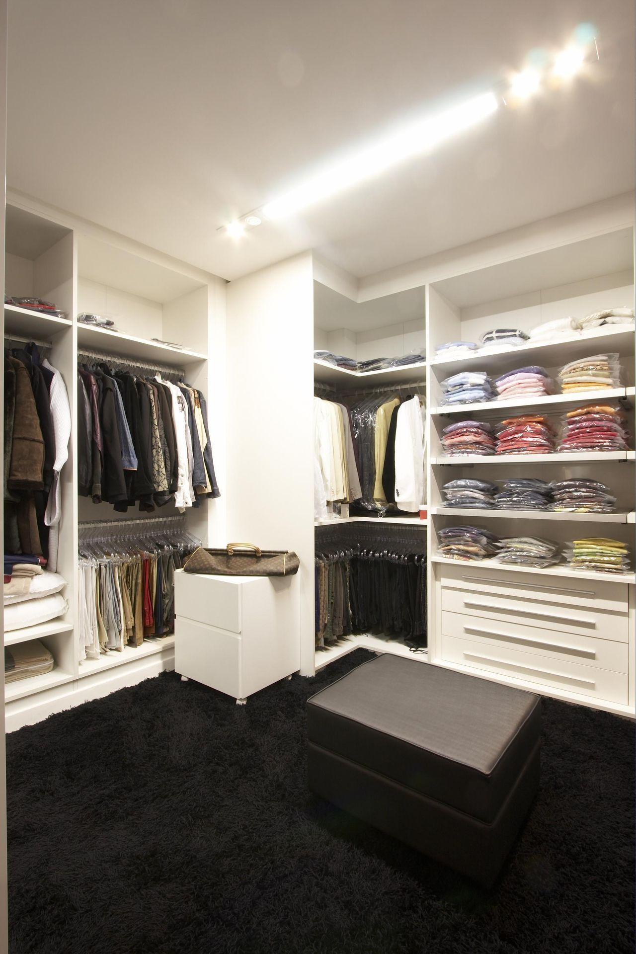 Modelos De Closet Incr Veis Para Voc Se Inspirar ~ Tamanho Ideal Quarto Casal Closet
