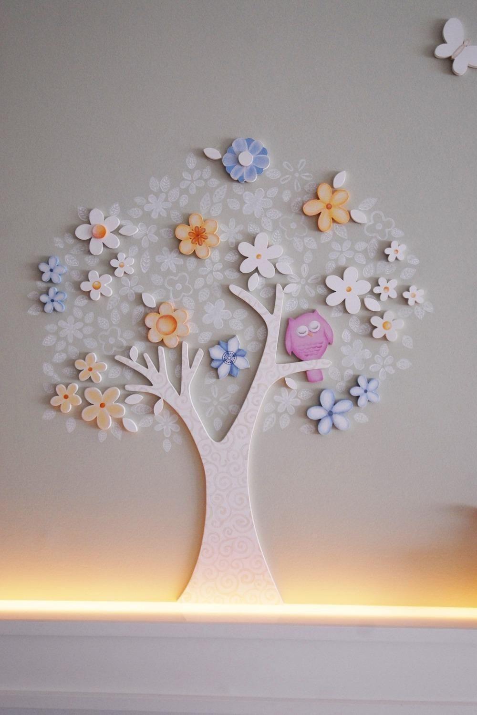 Rvore Decorativa Com Coruja No Quarto De Beb De Lucia Tacla  ~ Decoração Coruja Quarto Bebe E Pinturas Quarto De Bebe