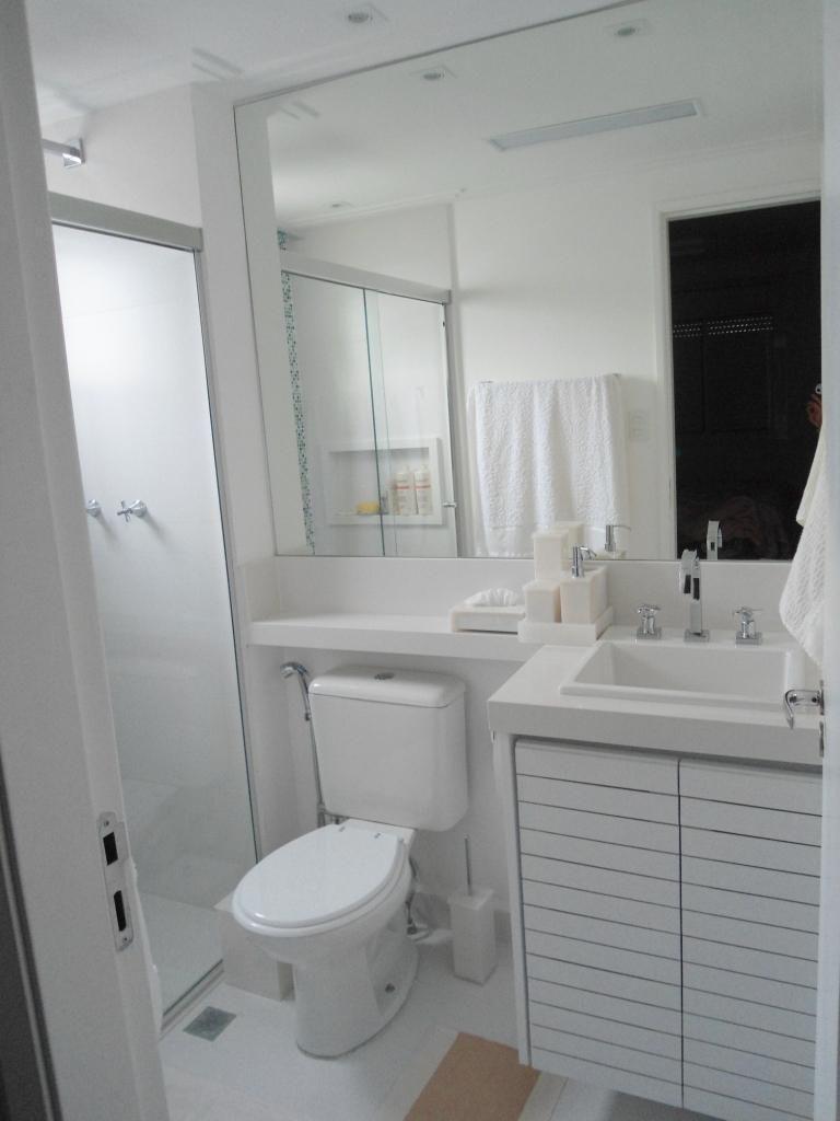 Banheiro Branco de Condecorar Arquitetura e Interiores  77672 no Viva Decora -> Banheiro Simples Suite