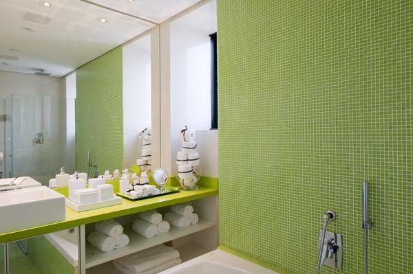 cores de parede decoração banheiro verde - cores de tintas