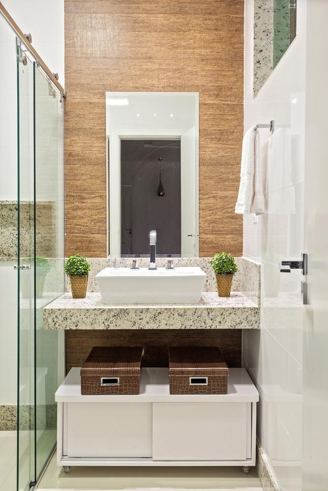 Banheiro com lavabo Pequeno de Laura Santos  96119 no Viva Decora -> Banheiros Lavabos Simples