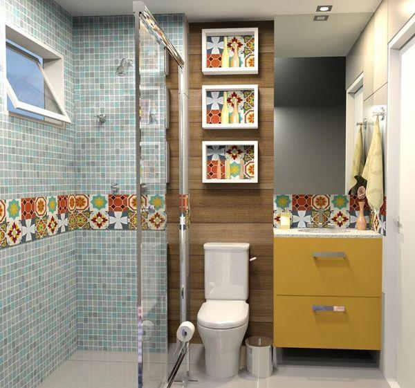 como decorar um banheiro - nichos