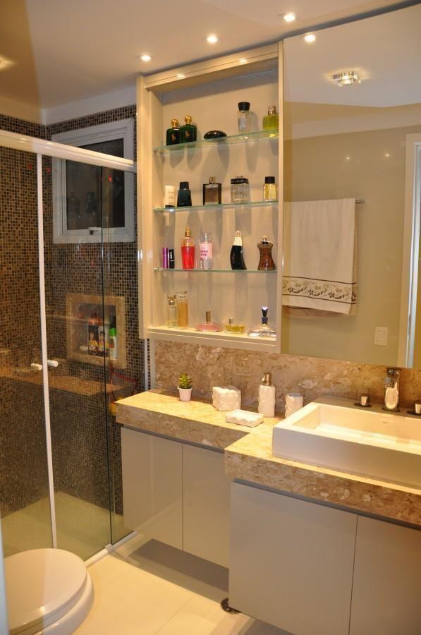 10 Dicas para Armário de Banheiro com + de 40 Fotos Incríveis -> Armarinho Banheiro Simples