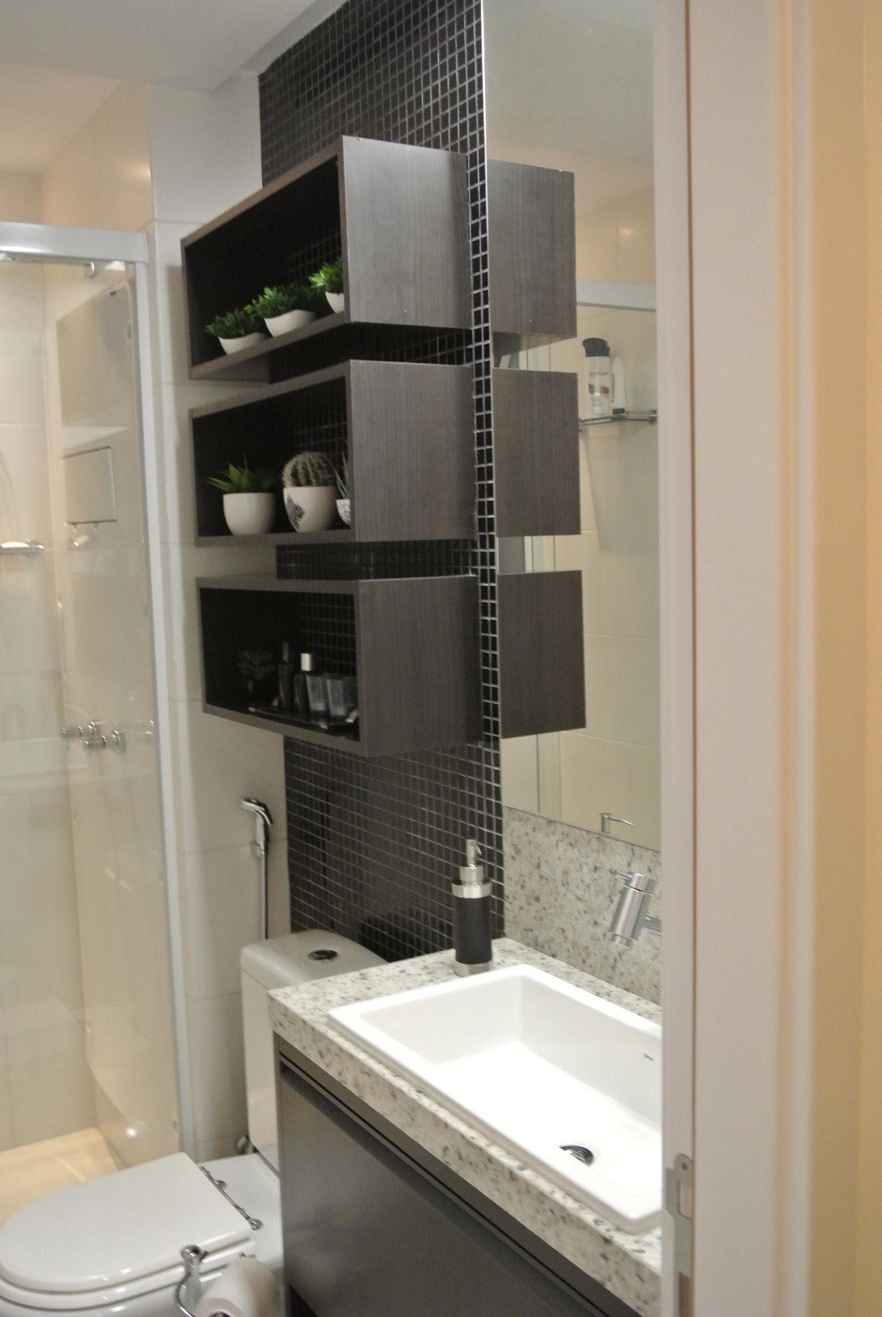 Banheiro com Pastilhas Preta de Suellen Montenegro Bezerra  49418 no Viva De -> Banheiro Simples Pastilha