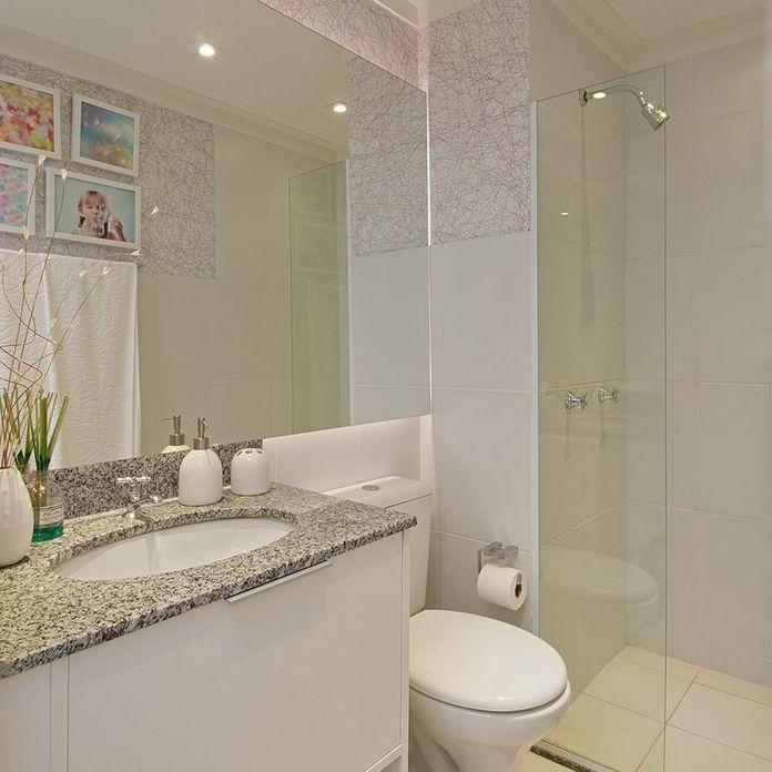 Banheiro com pia de mármore de Adriana Fontana  22159 no Viva Decora -> Pia De Banheiro Cassol