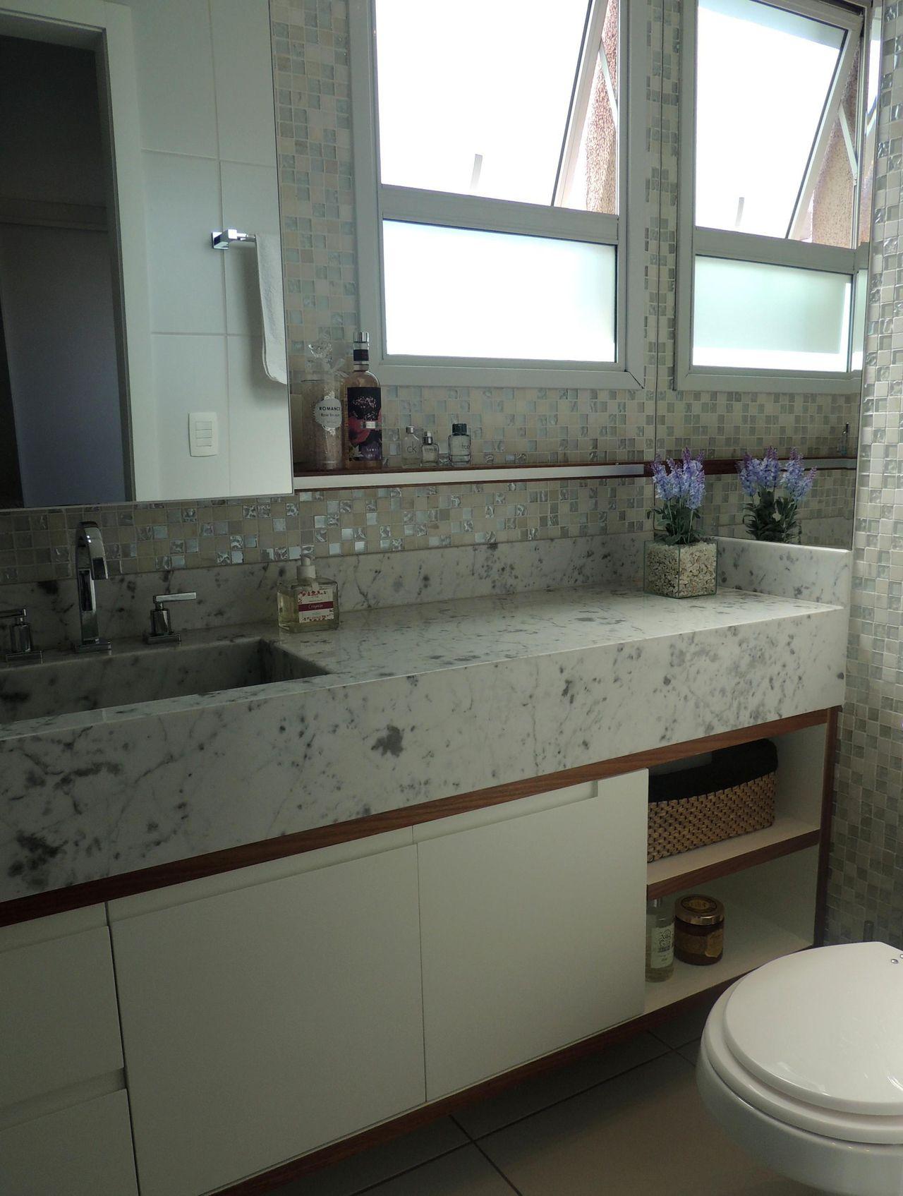 Banheiro de CS Projetos Decoração de Inteiores  35336 no Viva Decora -> Banheiro Simples Com Banheiro