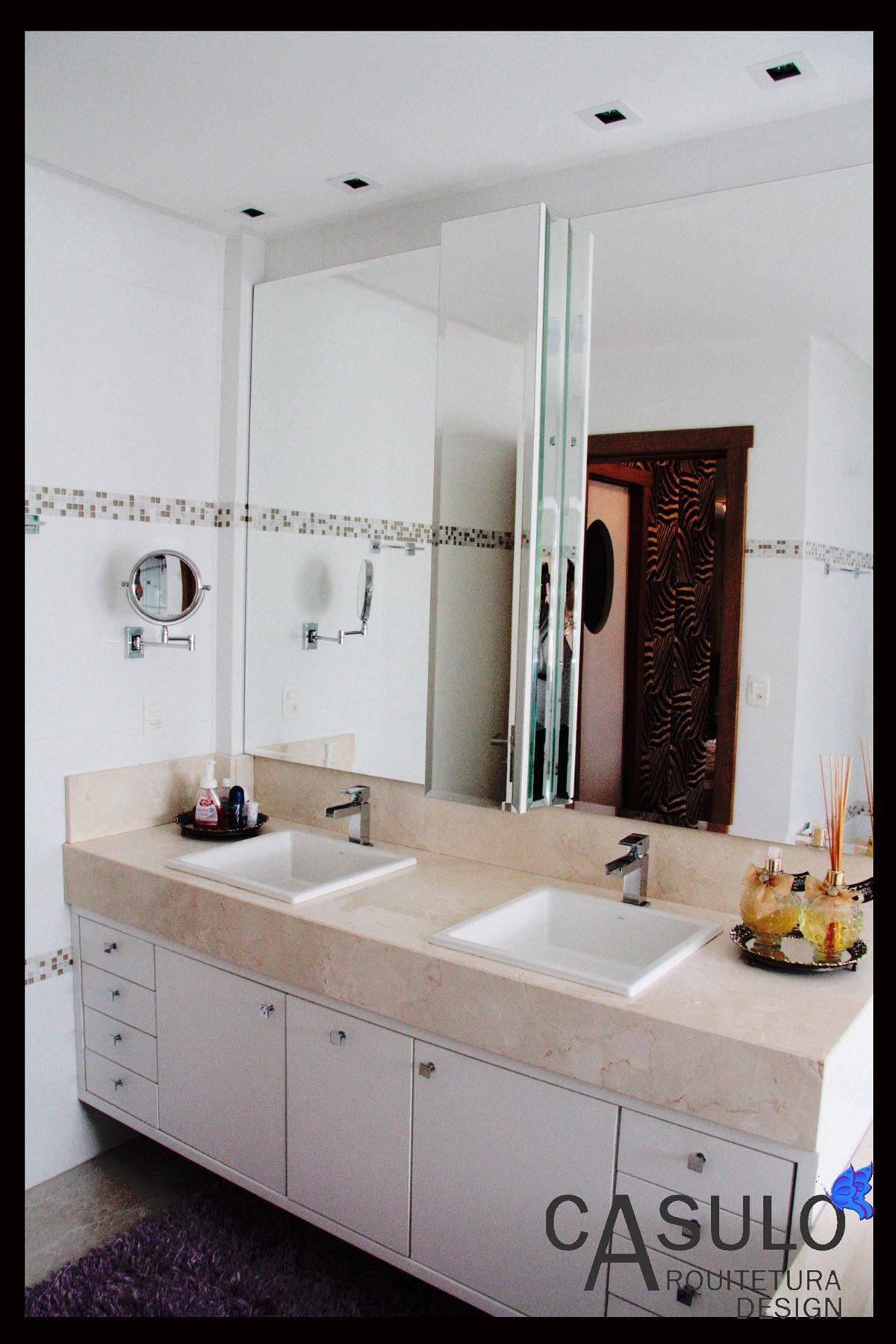 Banheiro Simples Com Banheiro De Casal Branco Com Cuba Dupla Daiana Arnold 138028 Viva Decora