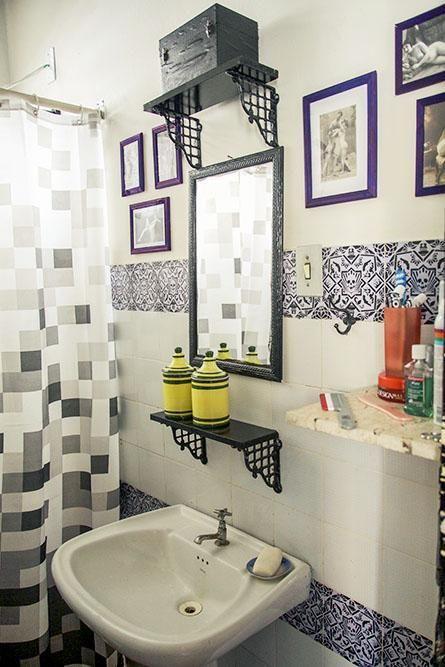 como decorar um banheiro - quadros
