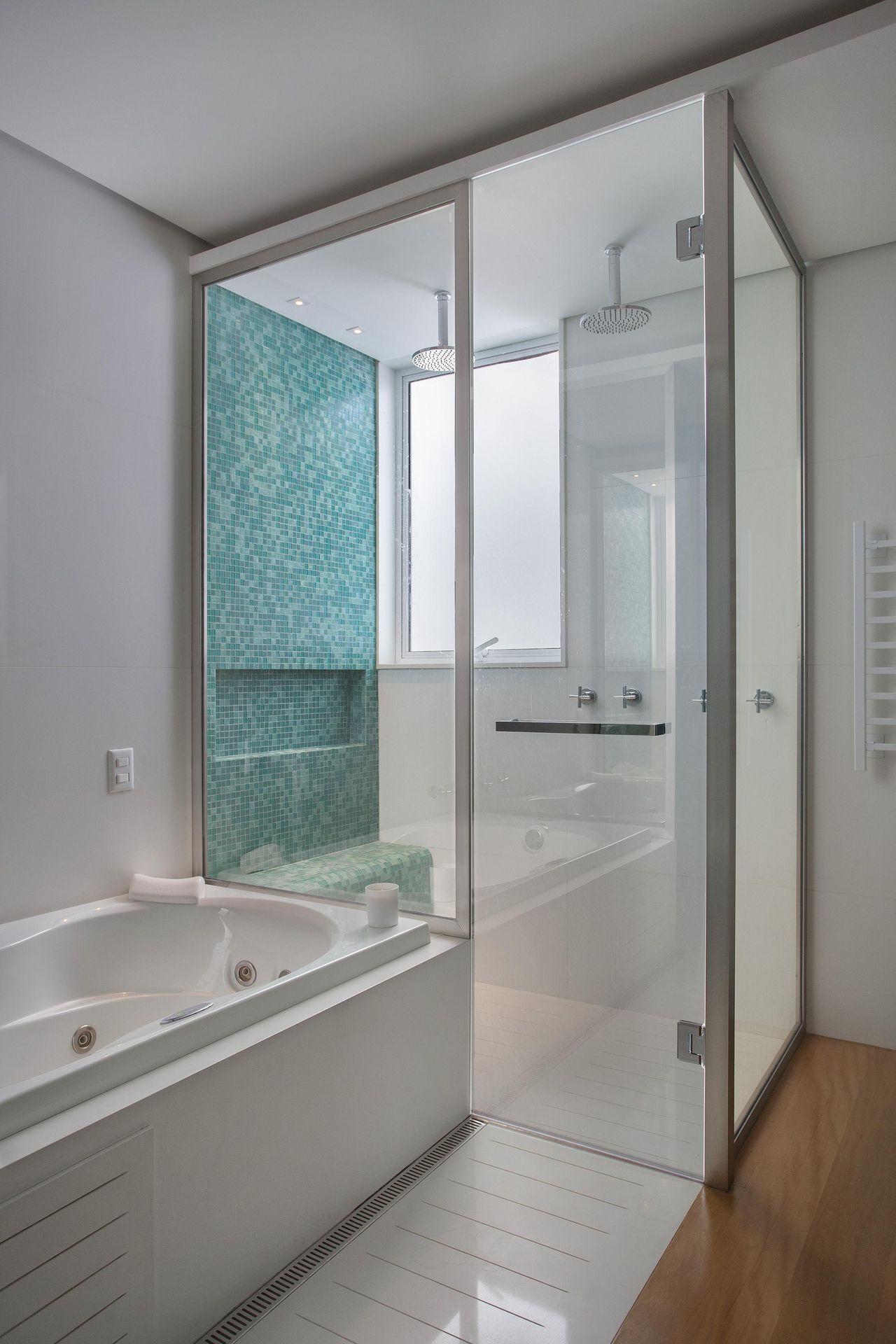 Banheiro de Escala Arquitetura  3133 no Viva Decora -> Banheiro Simples Suite