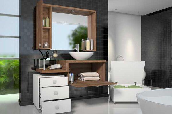 10 Dicas para Armário de Banheiro com + de 40 Fotos Incríveis -> Armario De Banheiro Simples E Barato