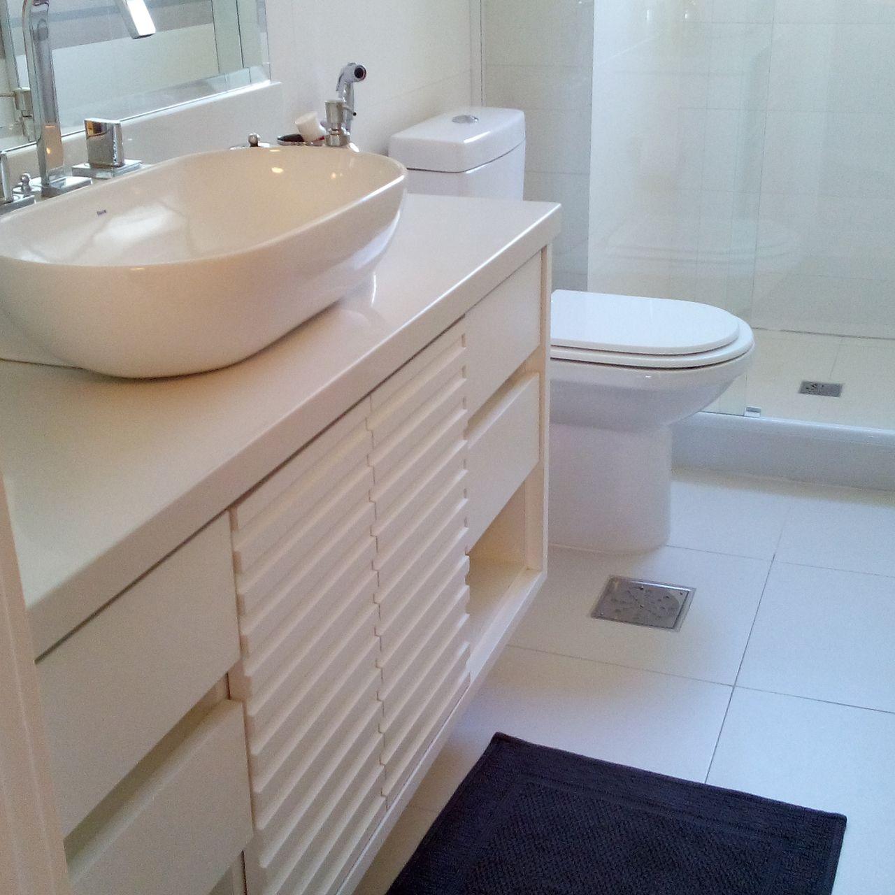 Banheiro Simples Com Banheiro Clean Com Cuba De Sobrepor Patricia Tavares 132296 Viva Decora