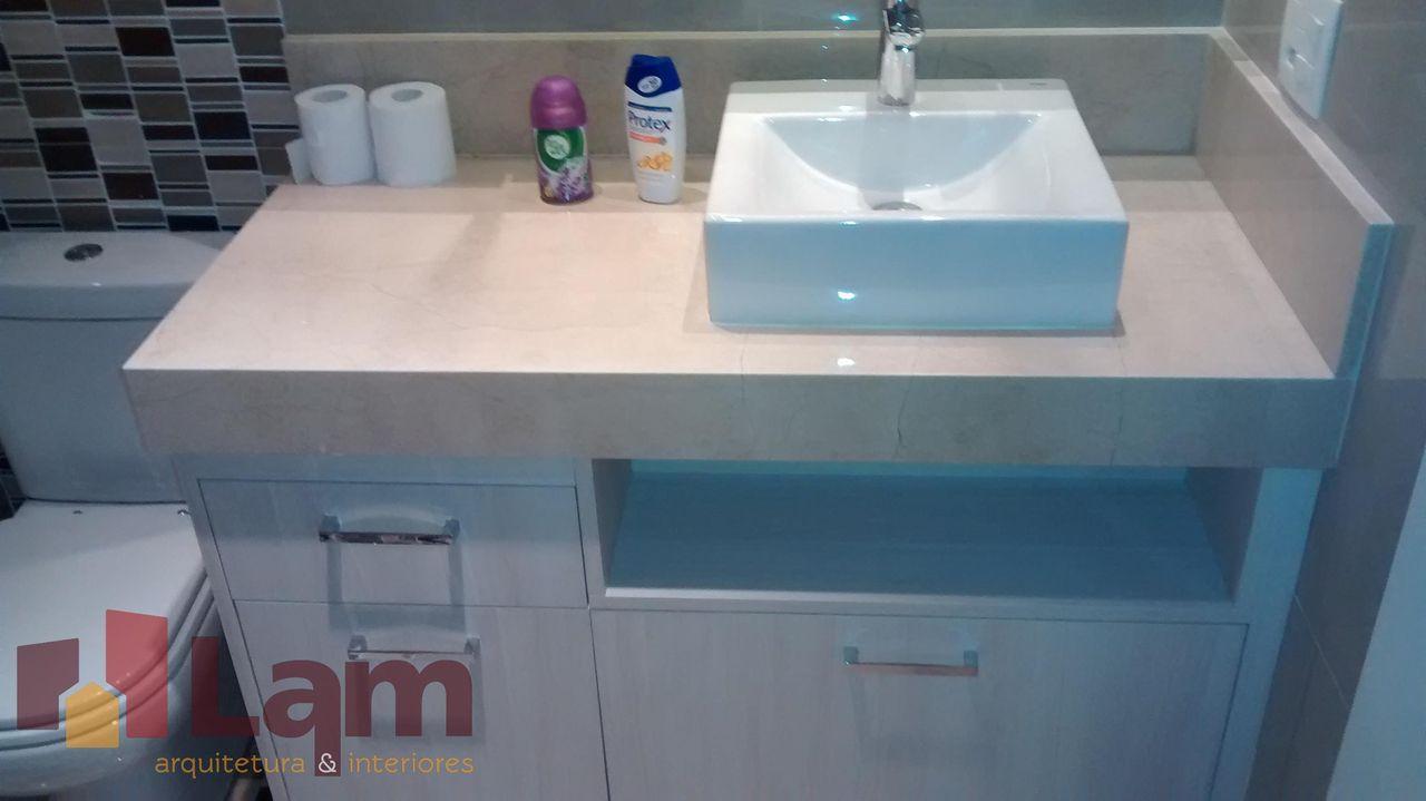 Banheiro Simples Com Cuba Quadrada Branca Lam Arquitetura Interiores 91124 Viva Decora