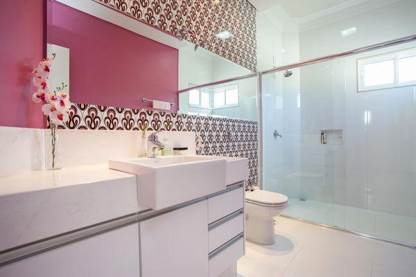 como decorar um banheiro - papel de parede