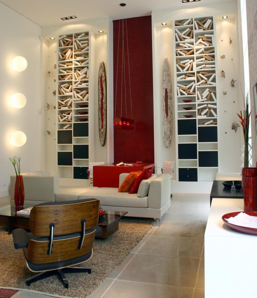 Favoritos Sala de espera com pendente Vermelho de Marília Veiga - 87805 no  XQ98