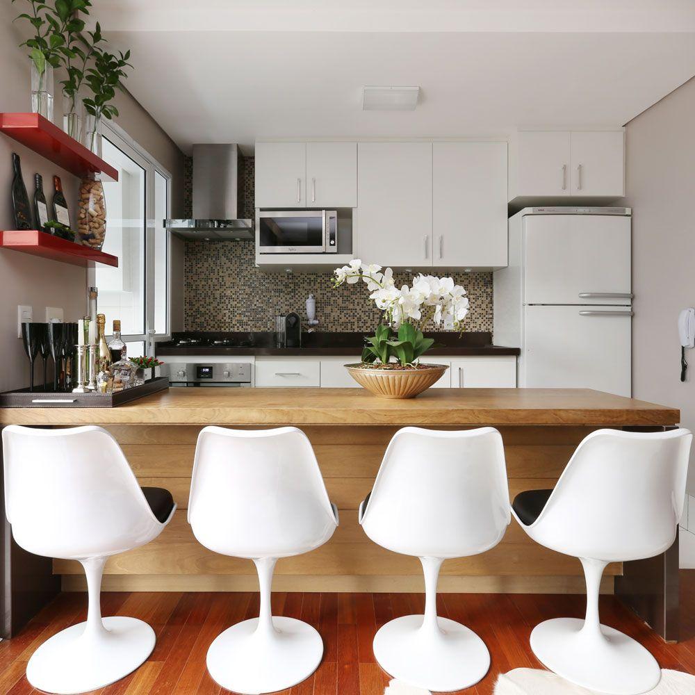Cadeira De Cozinha Americana Como O Morador Deste Ap Adora Receber