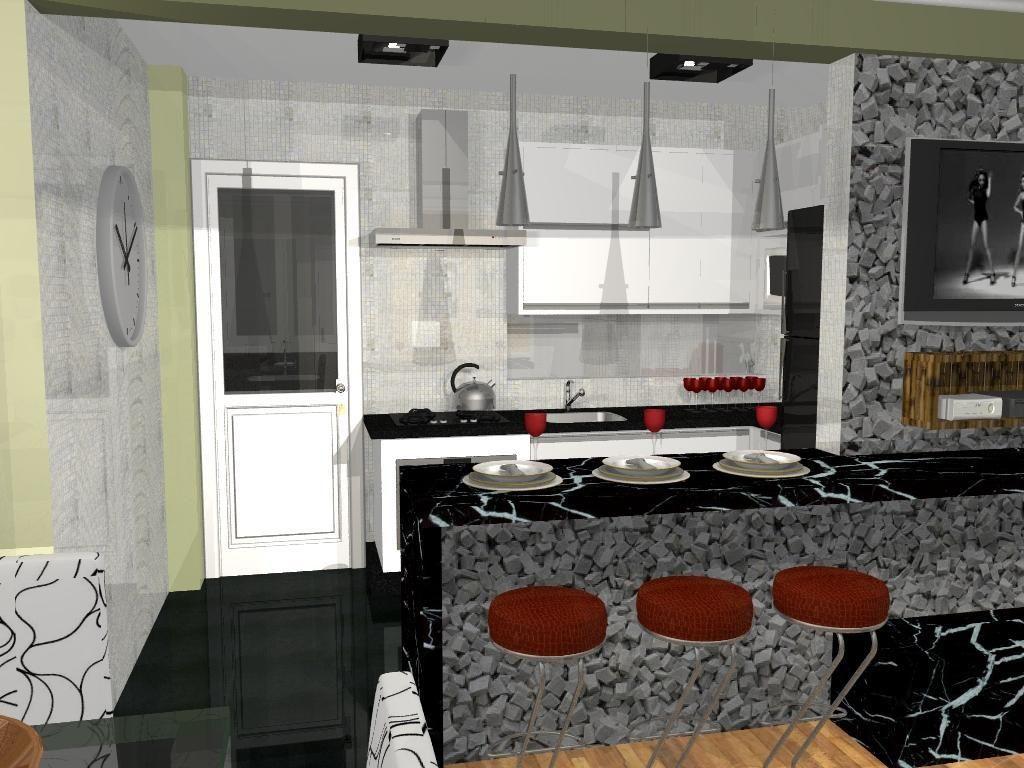 Bancada Da Cozinha Com Acabamento De Pedra De L O Balicas 46379