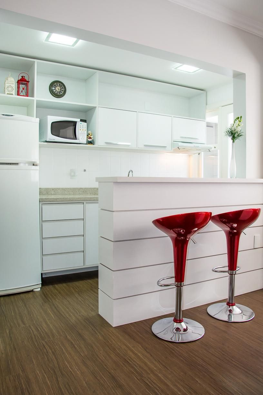 Cozinha Vermelha E Branca Foto Cozinha Completa Clarice De Ao