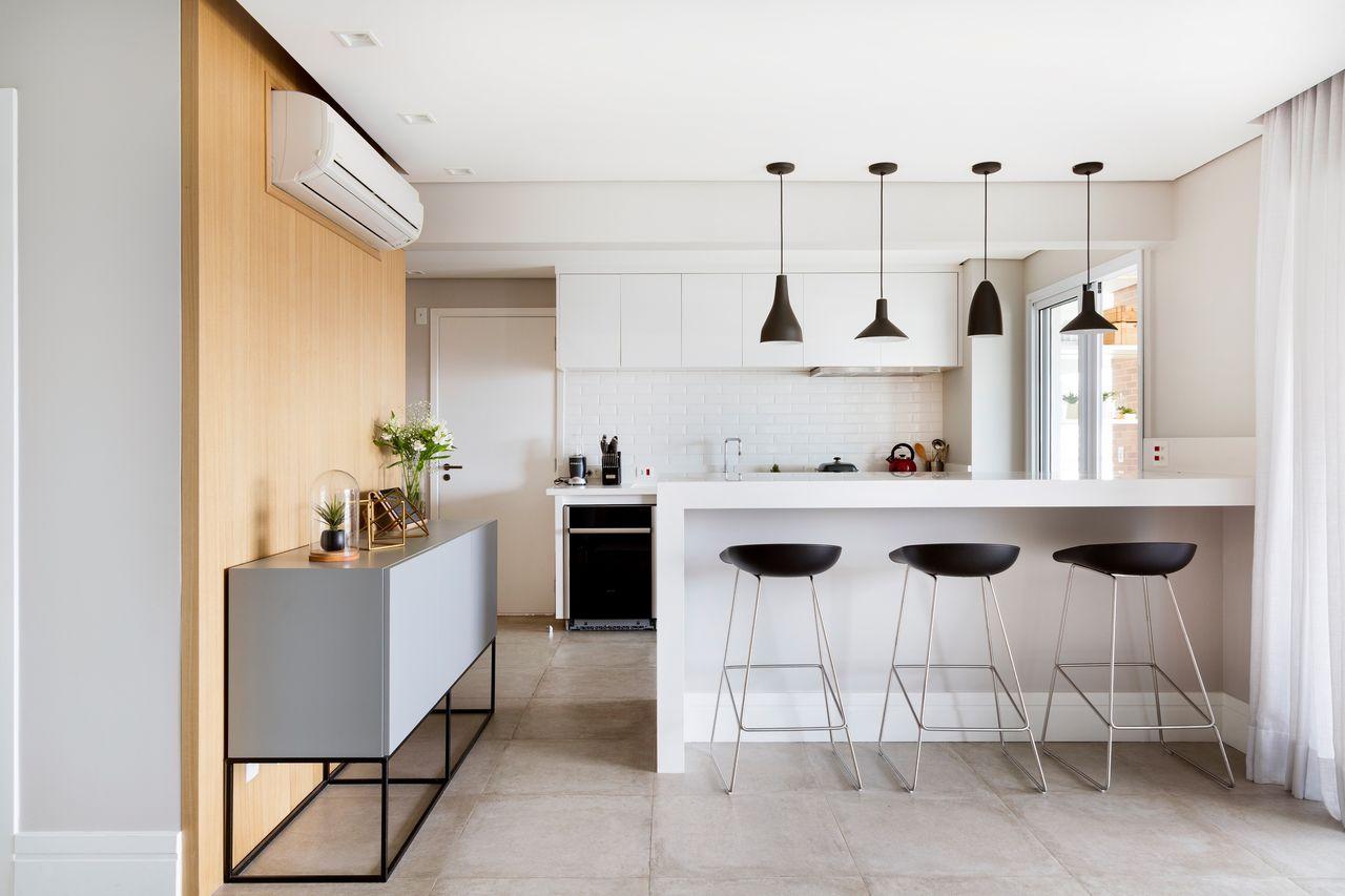 Armario Com Espelho Para Banheiro Balaroti ~ Aparador Para Cozinha Com Banquetas Cozinhas Americanas