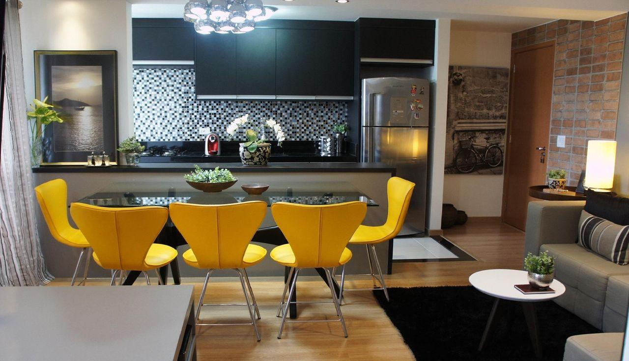 Cadeiras Almofadada Na Cor Amarelo De Emely Cano 42483 No Viva Decora