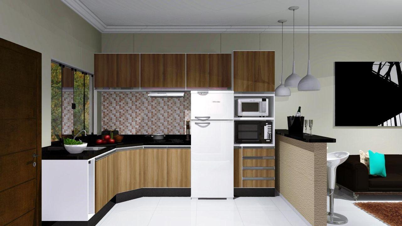 Cozinha Americana Com Arm Rios De Madeira De Renata Oliveira 59011
