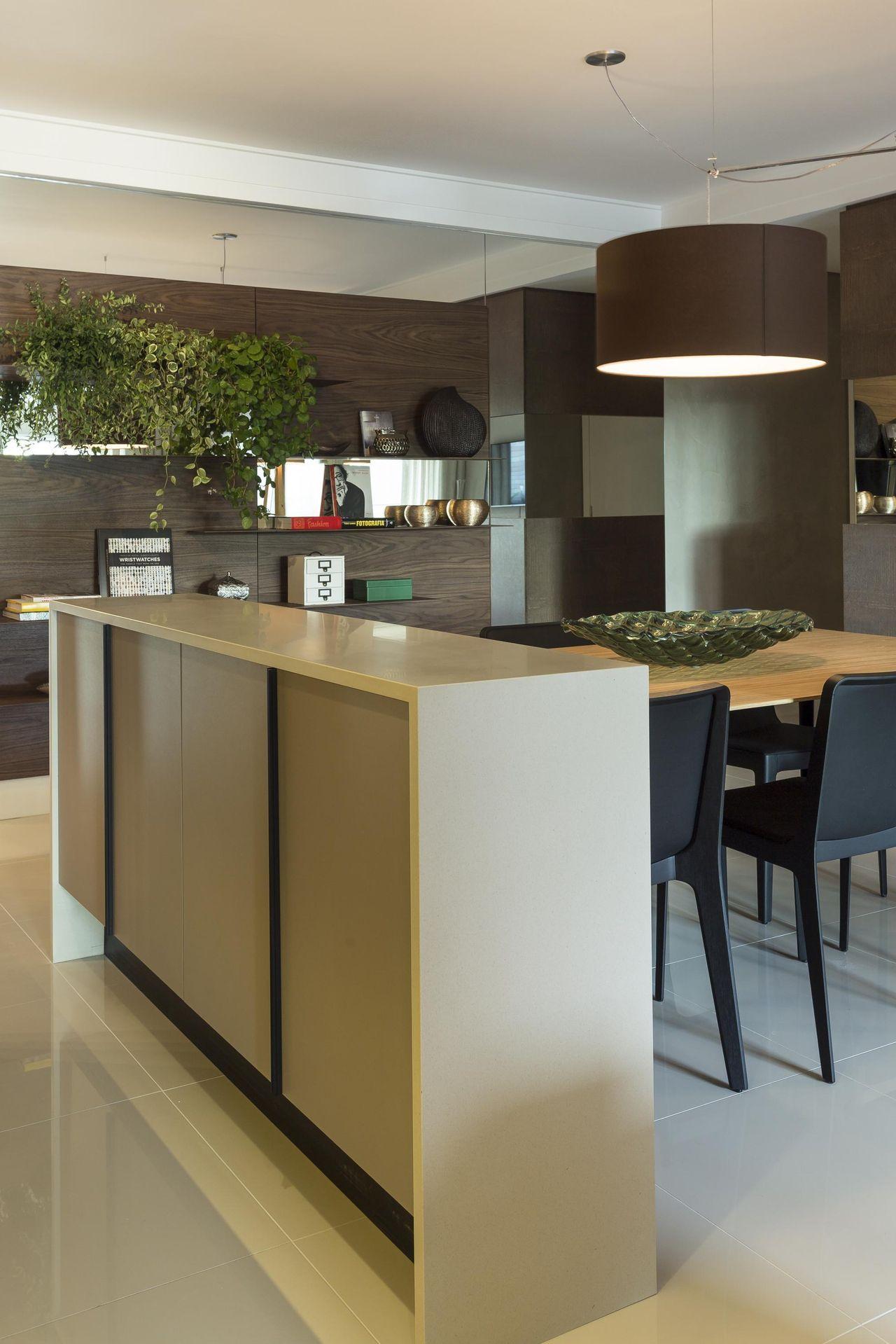 Cozinha Americana Com Bal O De Madeira De Juliana Pippi 70727  ~ Cozinha Americana Em Madeira
