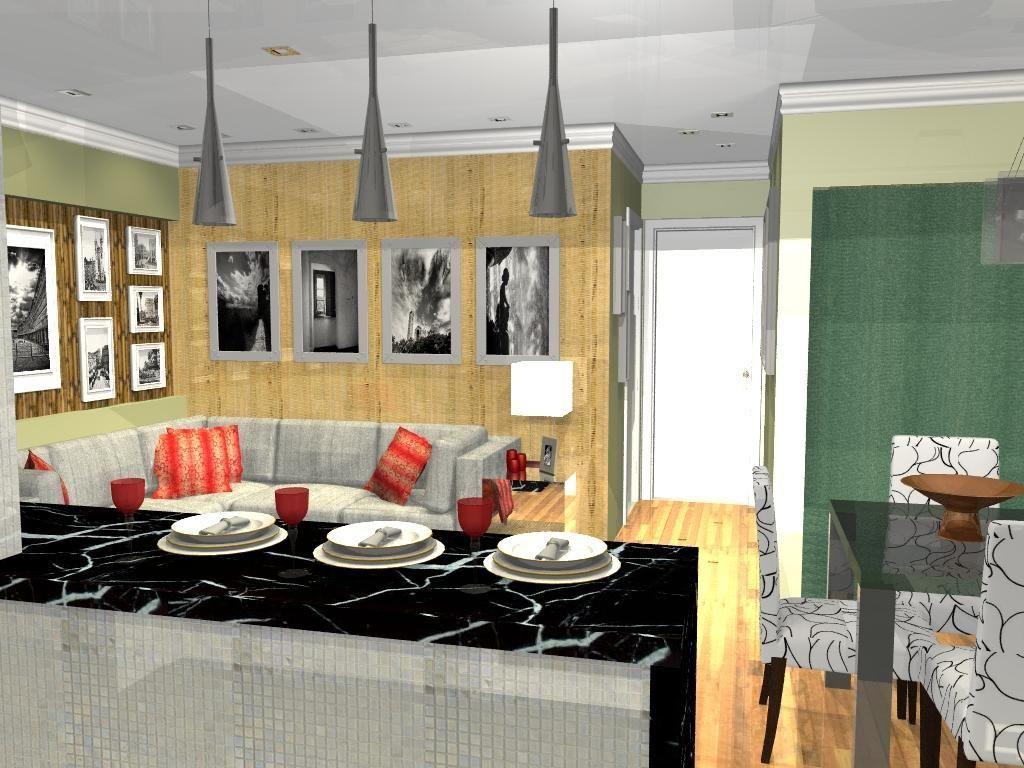 Cozinha Americana Com Bal O De M Rmore De L O Balicas 46374 No