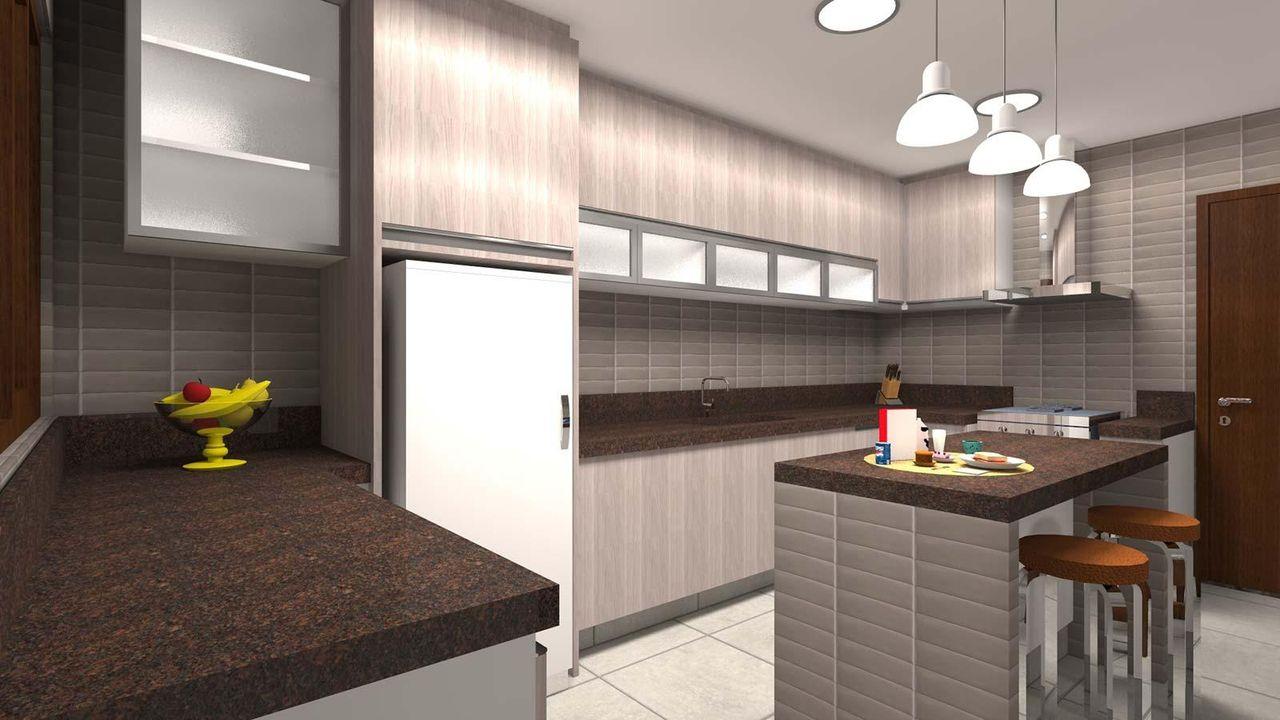 Cozinha Americana Com Bancada De Granito De Juliana Lahoz 79902 No