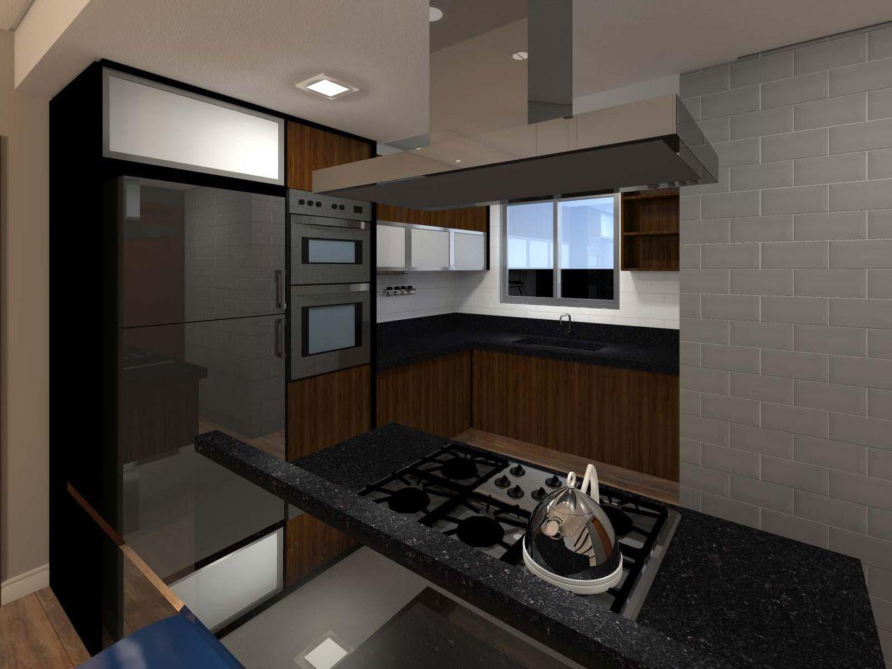 Cozinha Americana Com Bancada De Granito De Juliana Lahoz 79954 No