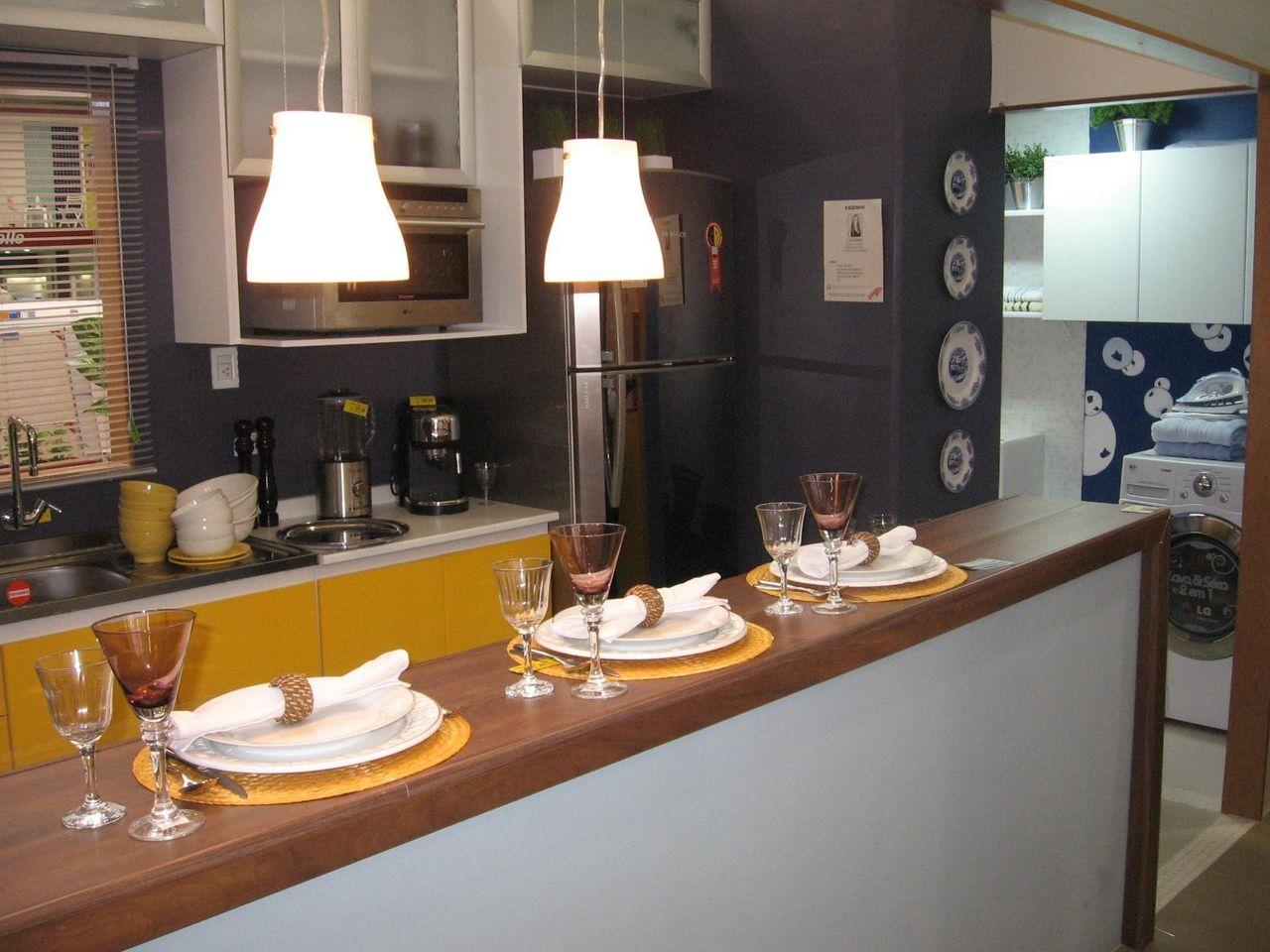 Cozinha Americana Com Bancada De Madeira De Lugama Lugama 50887 No