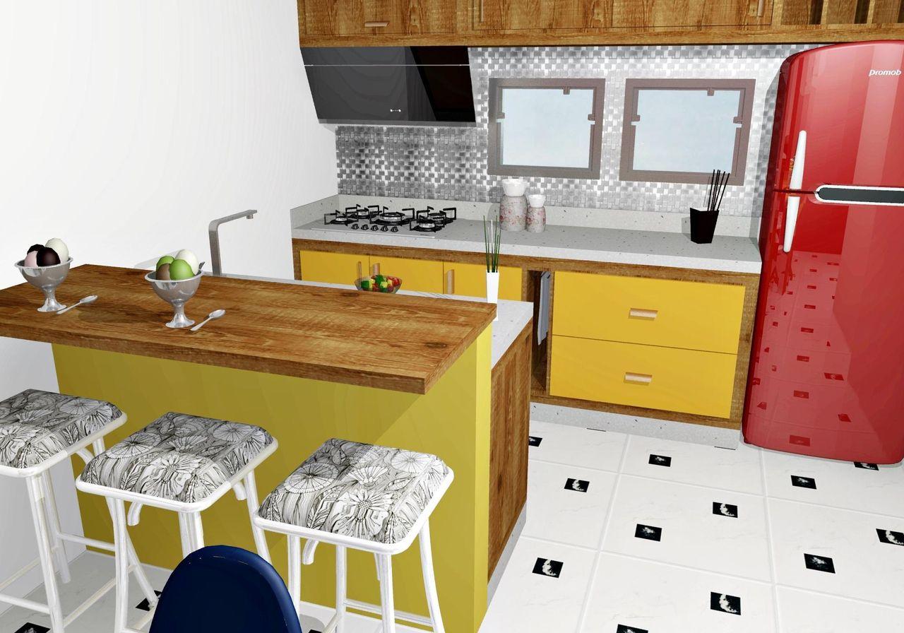Bancada Cozinha Americana Madeira Cozinhas Americanas Confira