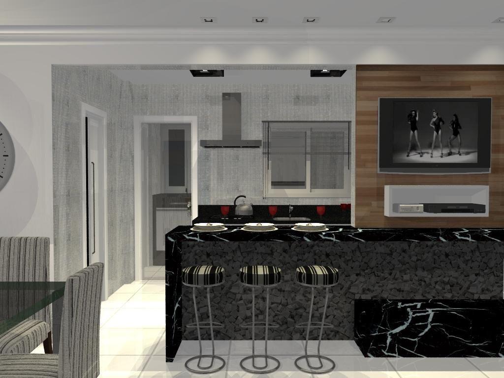 Cozinha Americana Com Bancada De M Rmore De L O Balicas 46362 No