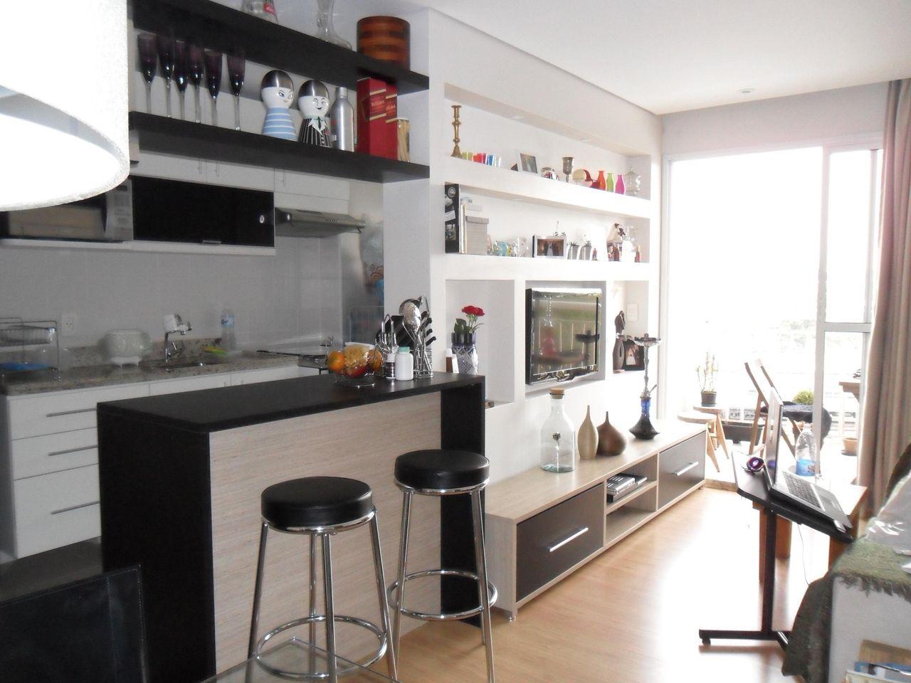 Cozinha Americana Com Banqueta Preta De Luiza Altman 50671 No Viva