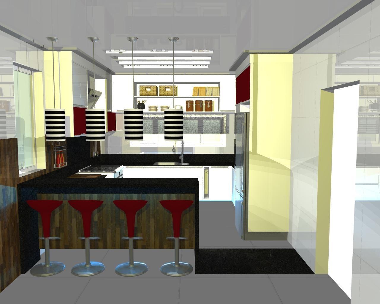 Cozinha Americana Vermelha E Branca Oppenau Info