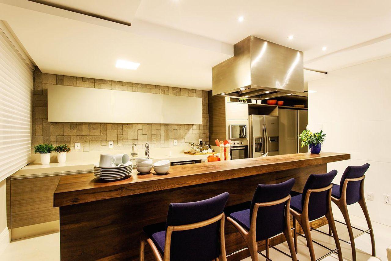 Cozinha Americana Com Cadeira Azul De Juliana Pippi 69894 No Viva