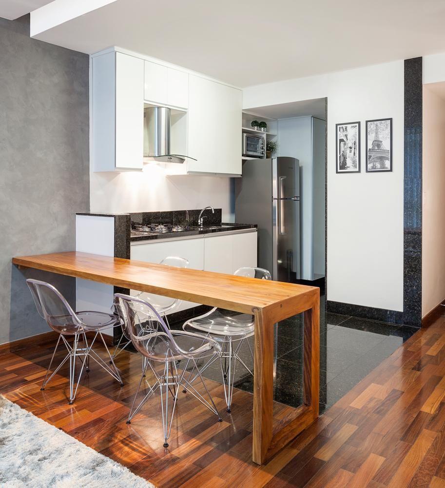 Cozinha Americana Com Cadeira Incolor De Laura Santos 96568 No
