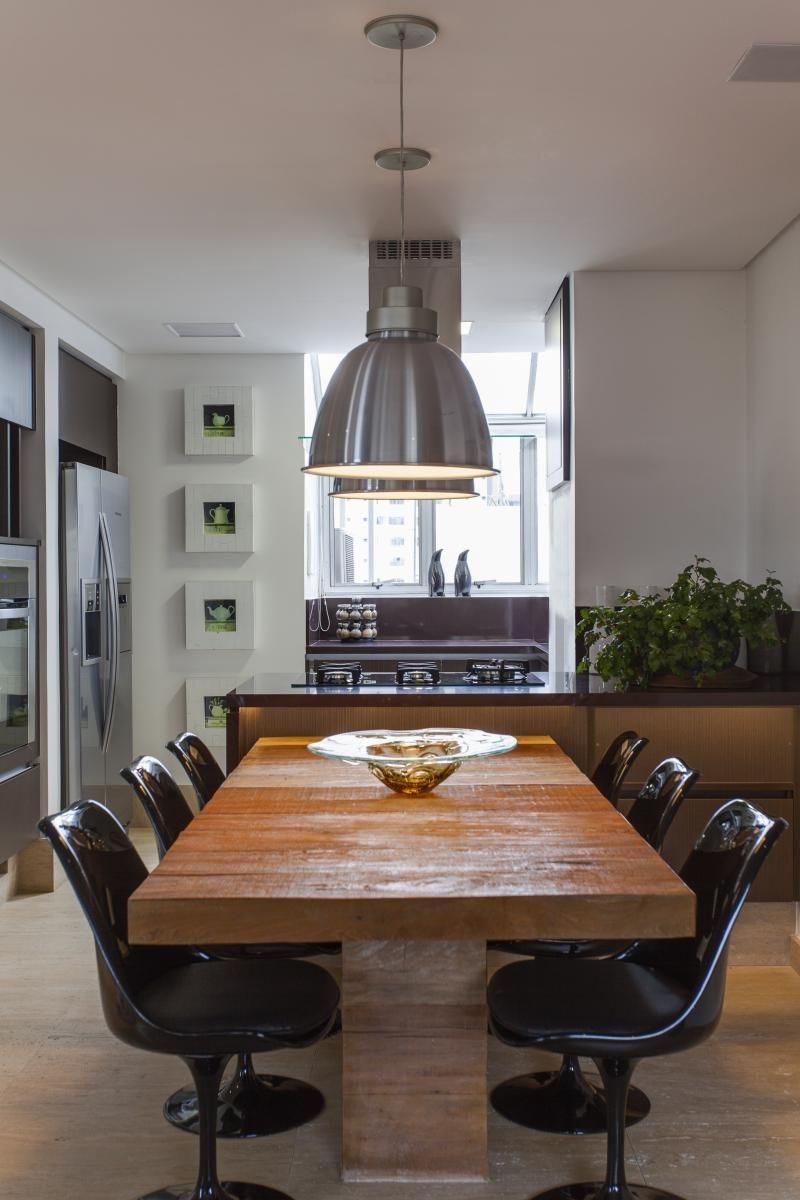 Cozinha Americana Com Cadeira Preta De Raduan Arquitetura 105974
