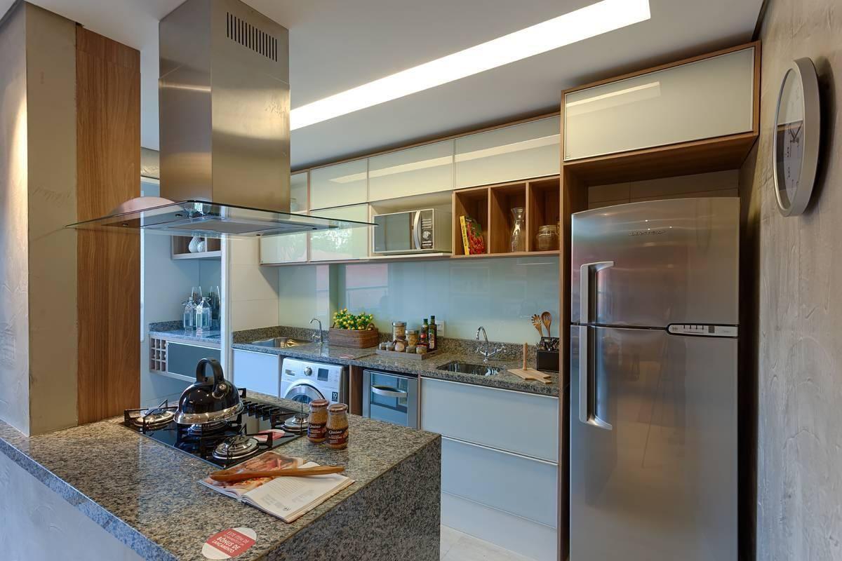 Cozinha Americana Com Cook Top E Bancada De Granit De Renata Basques