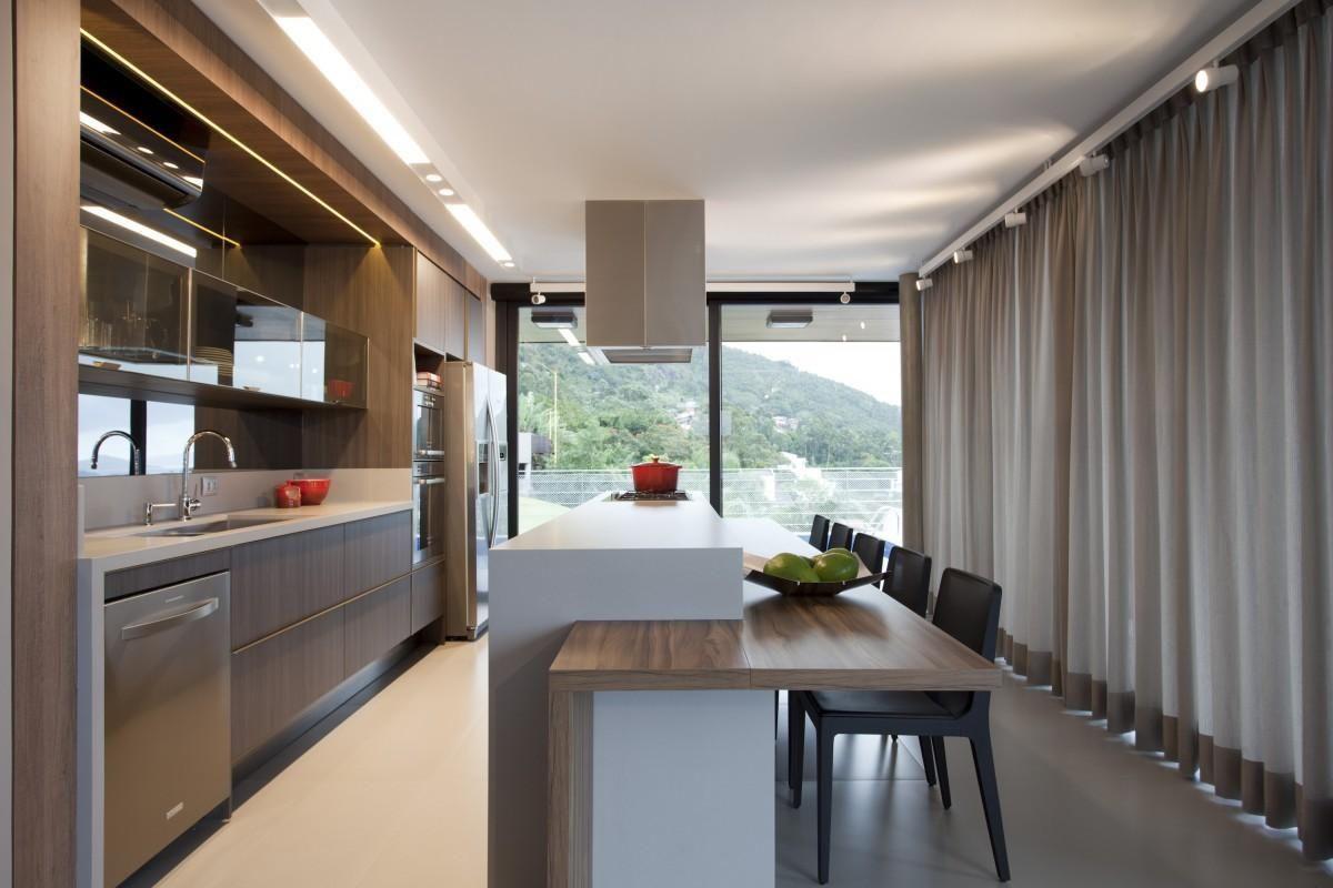 Cozinha Americana Com Cortina De Juliana Pippi 71183 No Viva Decora