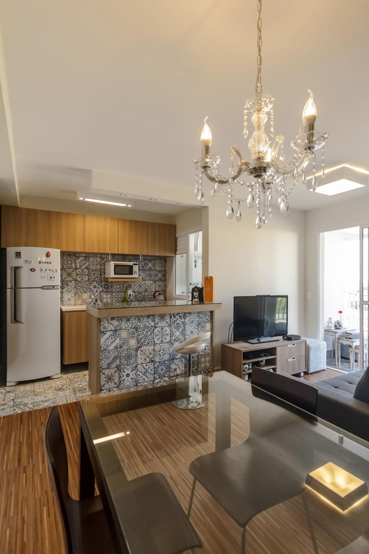 Cozinha Americana Com Geladeira Branca De Fernanda Duarte 64747 No