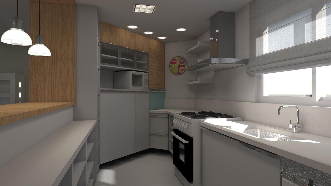 Cozinha Americana Com Janela E Persiana De Juliana Lahoz 79665 No