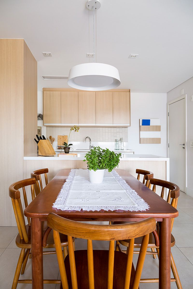 Cozinha Americana Com Mesa De Madeira De Juliana Conforto 133966