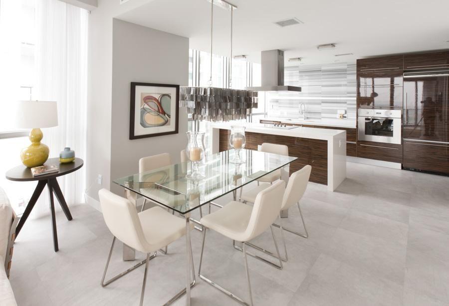 Cozinha Americana Com Mesa De Vidro De Marília Veiga 86382 No Viva