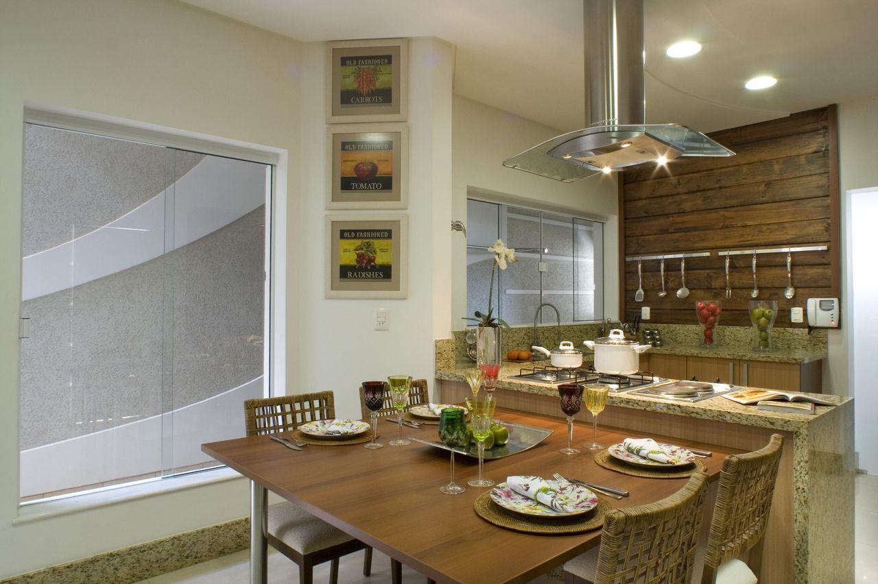 Cozinha Americana Com Mesa Quadrada De Aquiles Nicolas Kilaris
