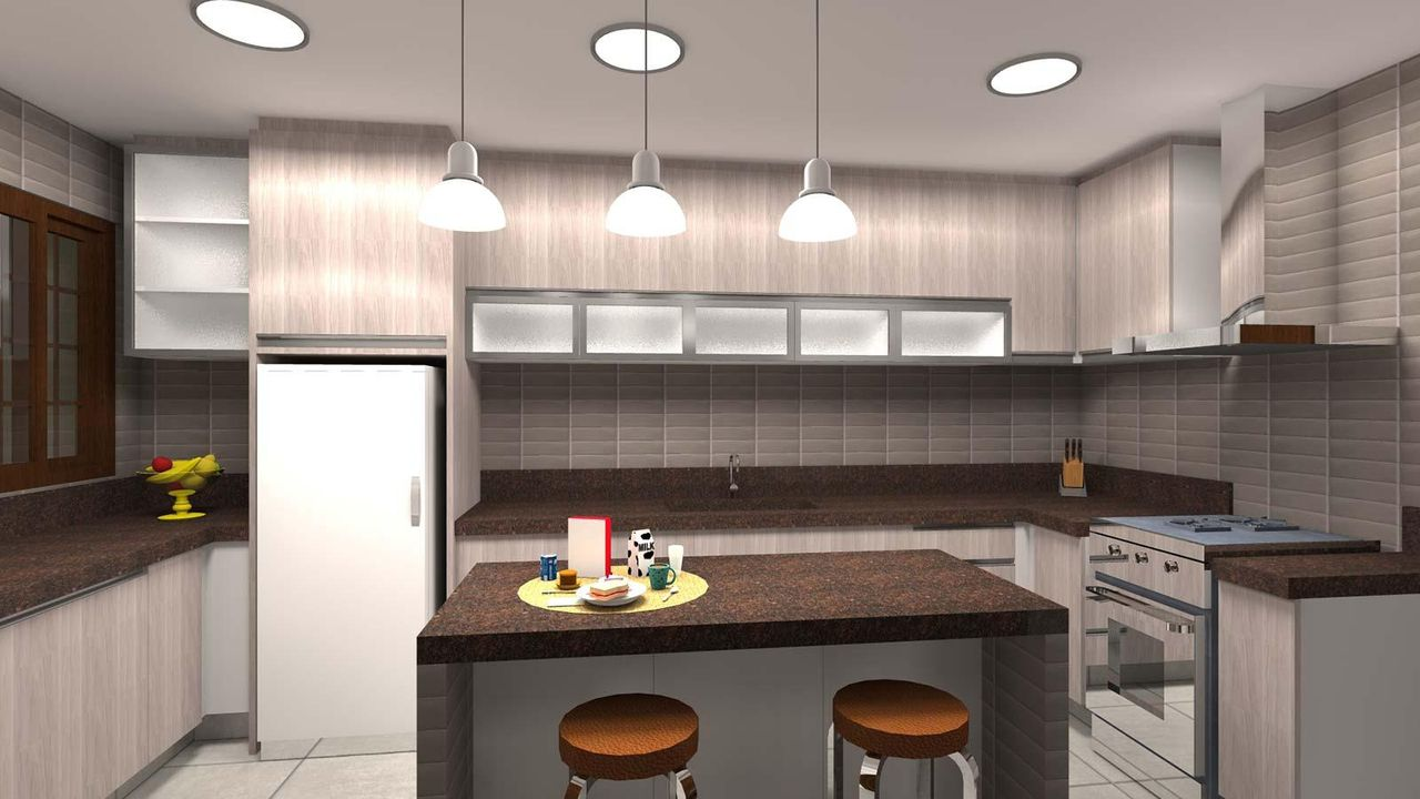 Luminarias Cozinha Americana Beautiful Kit Pendente Luminria Cone
