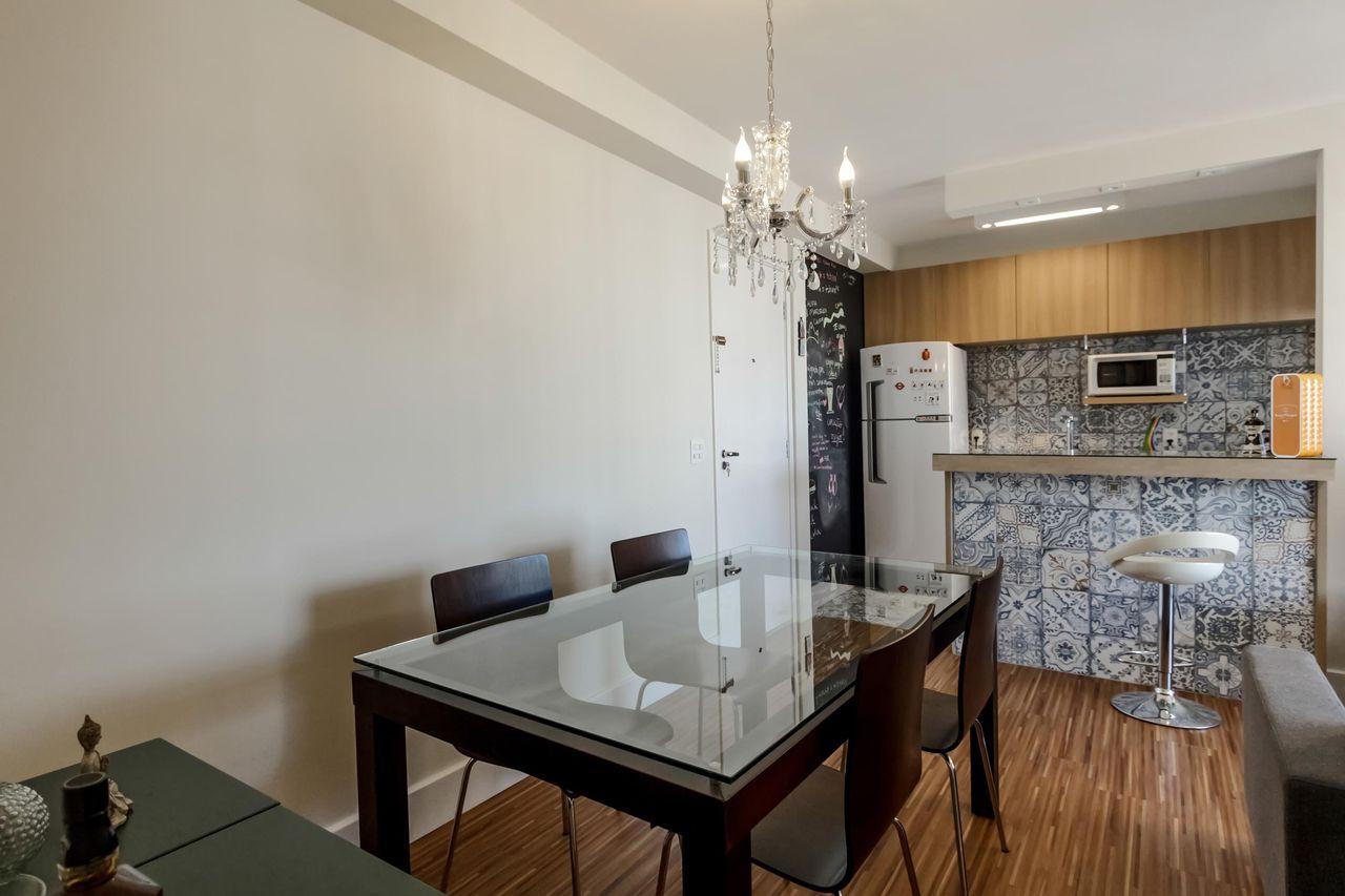 Cozinha Americana Com Revestimento Azul De Fernanda Duarte 64736