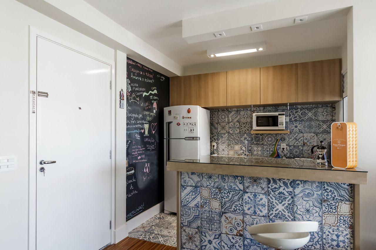 Revestimento Para Cozinha Ladrilho Cobog E Granilite ~ Bancada Divisoria Sala Cozinha