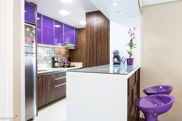 cores de casas roxa decoração cozinha roxo - cores de tintas
