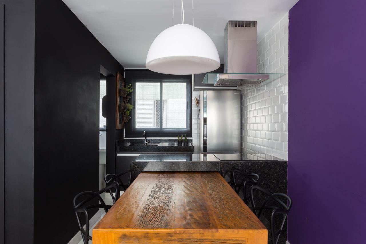 Cozinha Moderna Com Parede Roxa De Daniel Carvalho 140993 No Viva
