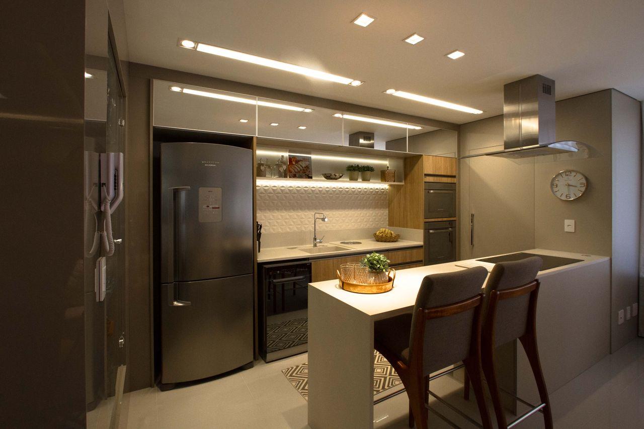 Cozinha Bege Com Revestimento 3d De Marina Turnes 151638 No Viva